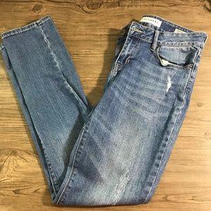 Bullhead Low Rise Distressed Skinny Jeans: 2036